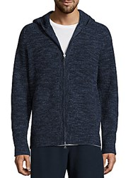 Vince Wool And Cashmere Zip Front Jacket Nightshadow