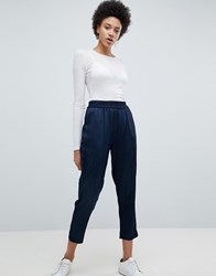 Selected Cropped Tailored Trouser Navy