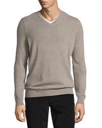 Vince Cashmere Long Sleeve V Neck Sweater Heather Maple H Maple