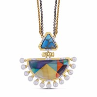 Lmj My Colorful Legacy Necklace Blue Gold Yellow