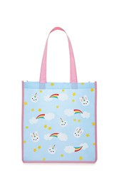 Forever 21 Unicorn Bunny Graphic Tote Bag Seafoam Olive