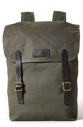 Filson Men's 'Ranger' Canvas Backpack Green Otter Green