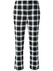 Christopher Kane Checked Trousers Black