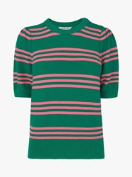 Lk Bennett L.K.Bennett Isobel Cotton Stripe Jumper Green