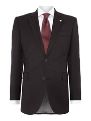 Chester Barrie Plain Tailored Fit Single Breasted Jacket Charcoal