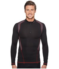 Cw X Long Sleeve Insulator Web Top Black Grey Red Men's Workout Gray