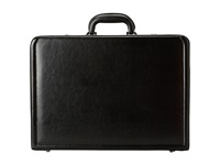 Kenneth Cole Reaction Manhattan Leather 4 4.75 Expandable Computer Attache With Removable Computer Sleeve Black Luggage