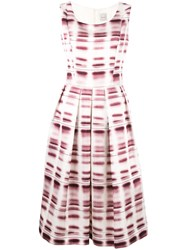 Eggs Pleated Flared Dress Pink Purple