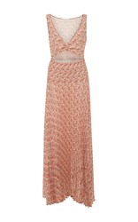 A.L.C. Alec Printed Cutout V Neck Midi Dress