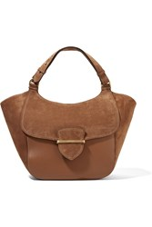 Michael Kors Josie Large Suede And Leather Tote Brown