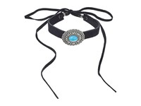 Leather Rock N226 Black Suede Necklace
