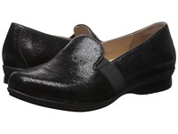Dansko Addy Black Crackle Suede Women's Flat Shoes