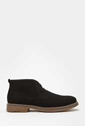 Forever 21 Canvas Lace Up Chukkas Black