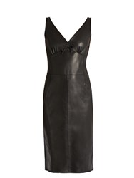 Loewe Leather Slip Dress Black