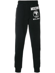Moschino Logo Tracksuit Bottoms Black