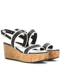 Salvatore Ferragamo Emilia Leather Wedges Black
