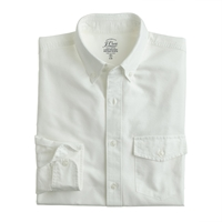 J.Crew Slim Lightweight Vintage Oxford Cloth Shirt In Solid White