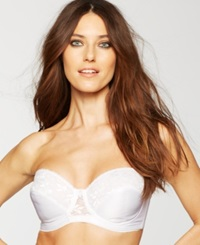 Carnival Full Coverage Lace Strapless Bra 123 White
