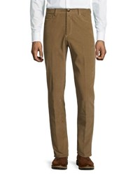 Luciano Barbera Corduroy Straight Leg Pants Brown