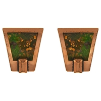 Eclectica Vintage 1960S Matisse Copper Enamel Abstract Earrings Copper