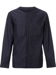 Monkey Time Band Collar Shirt Blue