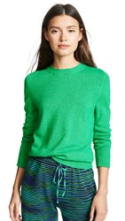 Barrie Cashmere Crew Neck Pullover New Green