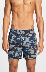 Michael Kors Cotton Boxers Assorted 2 Pack Dark Camo Blue Stripes