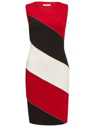 Gina Bacconi Ponti Colour Block Dress Red