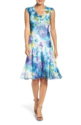 Komarov Women's Floral Print A Line Dress