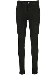 Rick Owens Drkshdw Stitched Panels Skinny Jeans 60
