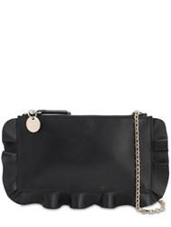Red Valentino Rock Raffle Leather Pouch Black