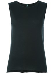 Eleventy Loose Fit Tank Top Black
