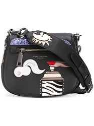 Marc Jacobs Patch Detail Tote Women Leather One Size Black