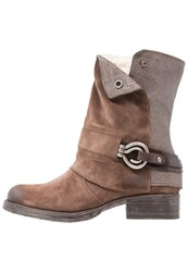 Mjus Cowboy Biker Boots Cacao Brown