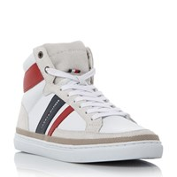 Tommy Hilfiger Maze 2 Retro Branded Hi Top Trainers White