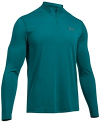 Under Armour Men's Threadborne Performance Quarter Zip Pullover Turquoise Sky