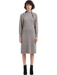 Salvatore Ferragamo Wool Heavy Rib Knit Dress And Bolero