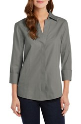 Foxcroft Fitted Non Iron Shirt Bay Leaf