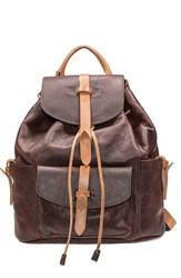 Will Leather Goods 'Rainier' Leather Backpack Brown Brown Tan