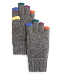 The Men's Store At Bloomingdale's Anya Cashmere Fingerless Gloves Grey Multi