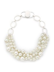 Jacques Vert Three Row Pearl Necklace Multi Coloured Multi Coloured