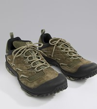 Merrell Chameleon 7 Limit Hiking Festival Trainers In Olive Green