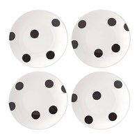 Kate Spade Deco Dot Appetiser Plates Set Of 4