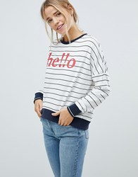 Only Sunny Batwing Print Sweatshirt Cloud Dncr W Nht Sky White