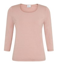 Eastex Soft Pink Scoop Neck Top Multi Coloured