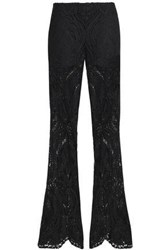 Anna Sui Guipure Lace Flared Pants Black