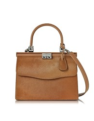 Rodo Light Brown Hair Calf And Leather Top Handle Paris Bag