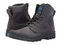 Palladium Pampa Cuff Wp Lux Iron Gate Diva Blue Boots Brown