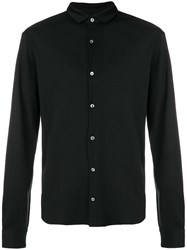 Emporio Armani Classic Button Down Shirt Black