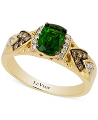 Le Vian Chrome Diopside 3 4 Ct. T.W. And Diamond 1 6 Ct. T.W. Ring In 14K Gold Green